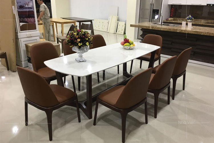 Một số mẫu bàn ăn đẹp cho phòng khách hiện đại