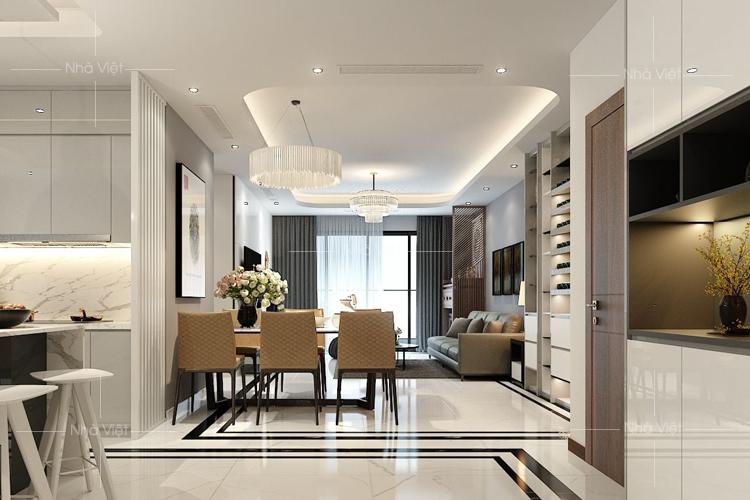 Sofa phòng khách chung cư cho đại đô thị Vinhomes Ocean park