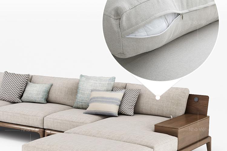 Sofa gỗ cao cấp cho phòng khách chung cư hiện đại