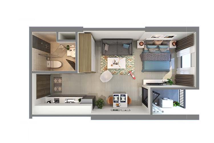 Tư vẫn chọn sofa cho căn hộ staudio diện tích 28m vuông