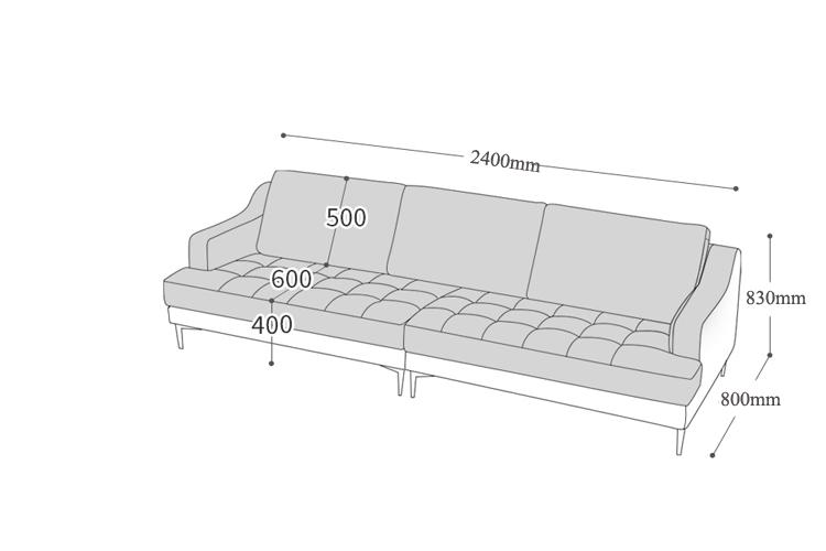 Mẫu sofa da thiết kế dạng văng cho căn hộ chung cư nhỏ