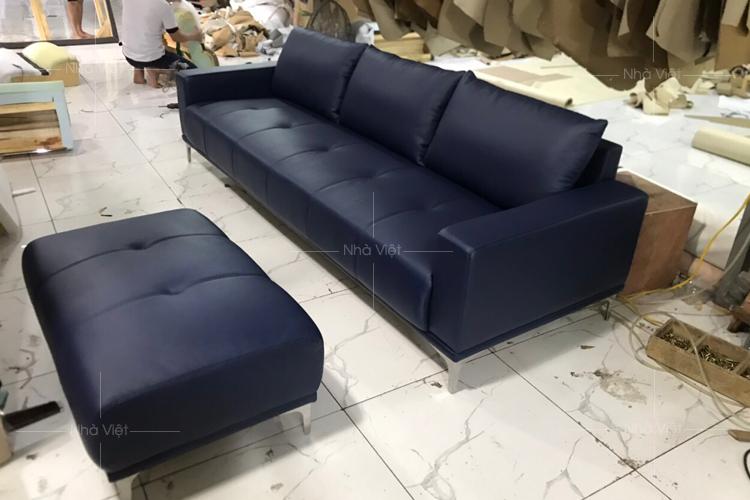 Bộ sofa da bò nhập khẩu Italia chất lượng bền đẹp tại Nhà Việt